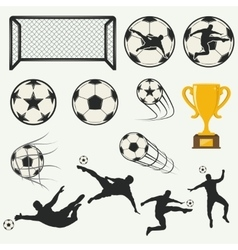 various isolated poses of soccer players in vector image vector image