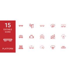 15 platform icons vector image