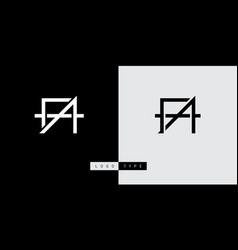 a and f initial logo af initial monogram logotype vector image