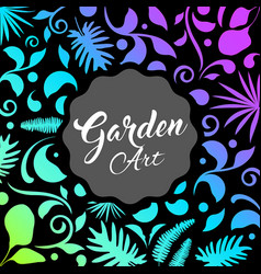 abstract garden design leaf nature background vector image