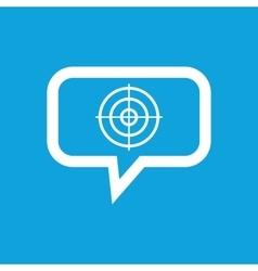 Aim message icon vector