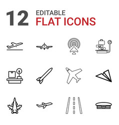 Airplane icons vector