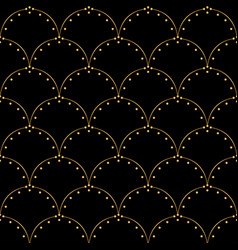 art deco pattern seamless white and gold vector image