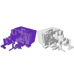 box build abstract vector image