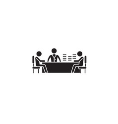 brainstorming session black concept icon vector image