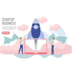 Business startup concept with charactercreative vector