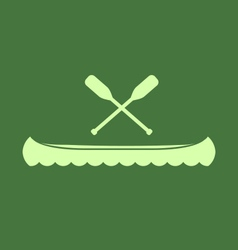 Canoe And Oars vector image