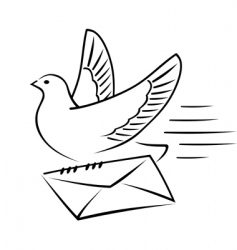 carrier pigeon with letter vector image