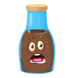 Cartoon Bottle vector image