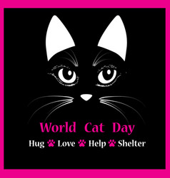 cat head animal for world cat day vector image