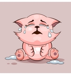 Cat is crying vector
