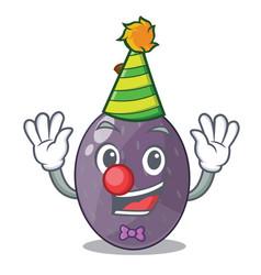 Clown velvet tamarind fruit isolated on mascot vector