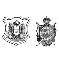 Coat of arms or the french republic and imperial vector