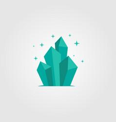Crystal blue srock tone design vector