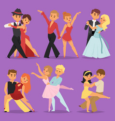 dancing couples romantic person people dance man vector image