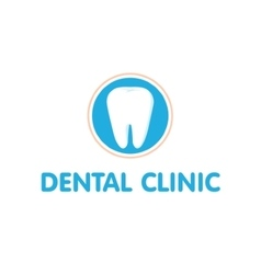 Dental clinic logo Dantist vector image