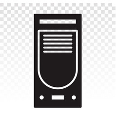 Desktop pc personal computer flat icon for apps vector