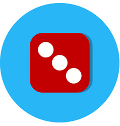 Dice three icon vector