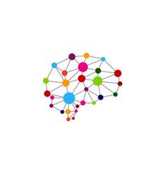 Digital brain logo icon design vector