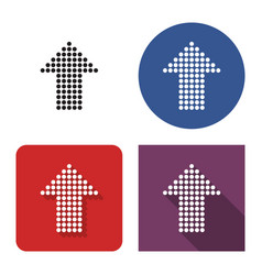 dotted icon upward direction arrow in four vector image