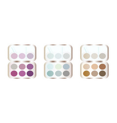 eyeshadows makeup set collection colorful vector image