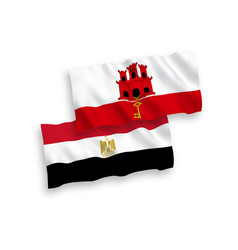 Flags egypt and gibraltar on a white background vector