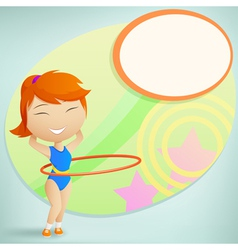 Girl gymnast vector