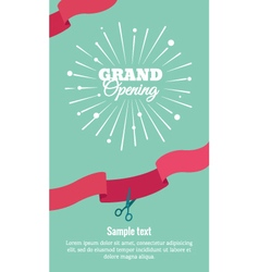 Grand opening vertical banner vector