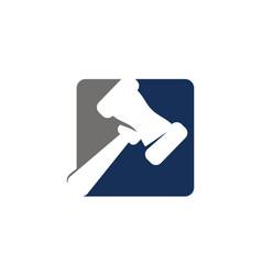 Hammer legal auction vector