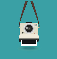 Hanging camera photo vector