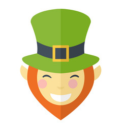happy face leprechaun cartoon vector image