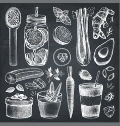 Healthy life sketch collection vector
