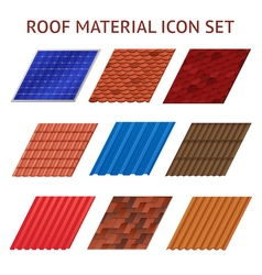 House roof tile images set vector