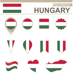 Hungary flag collection vector