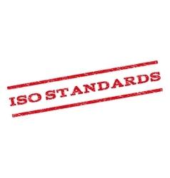 ISO Standards Watermark Stamp vector image