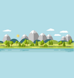 Landscape with mountains also usable as a vector