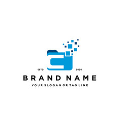 Letter c file folder logo design vector