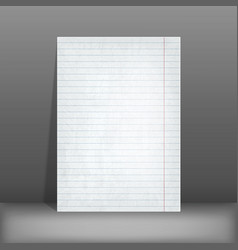 Lined paper blank design sheet a4 vector