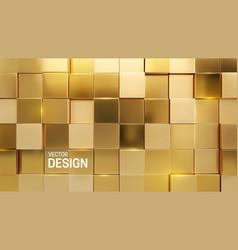 Luxurious golden mosaic background vector