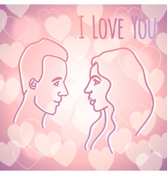 Man and woman in love vector image