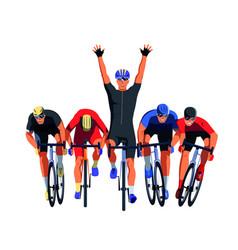Men s bicycle race vector
