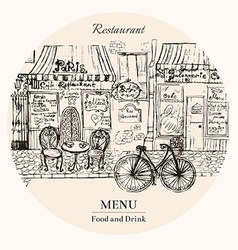 Menu food and drink vector