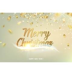 Merry christmas gray background vector