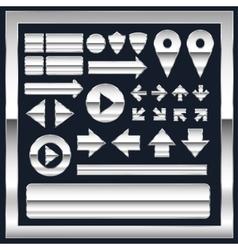 Metal elements vector image