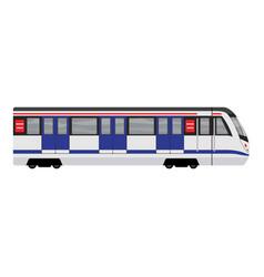 metal subway train icon cartoon style vector image