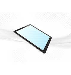 Modern tablet device electronic background vector