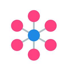 Molecule icon vector