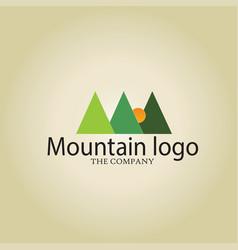 mountain ideas design on background vector image