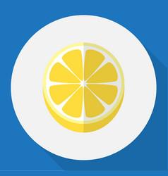 of dessert symbol on lemon vector image