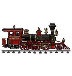 Old american steam locomotive vector image